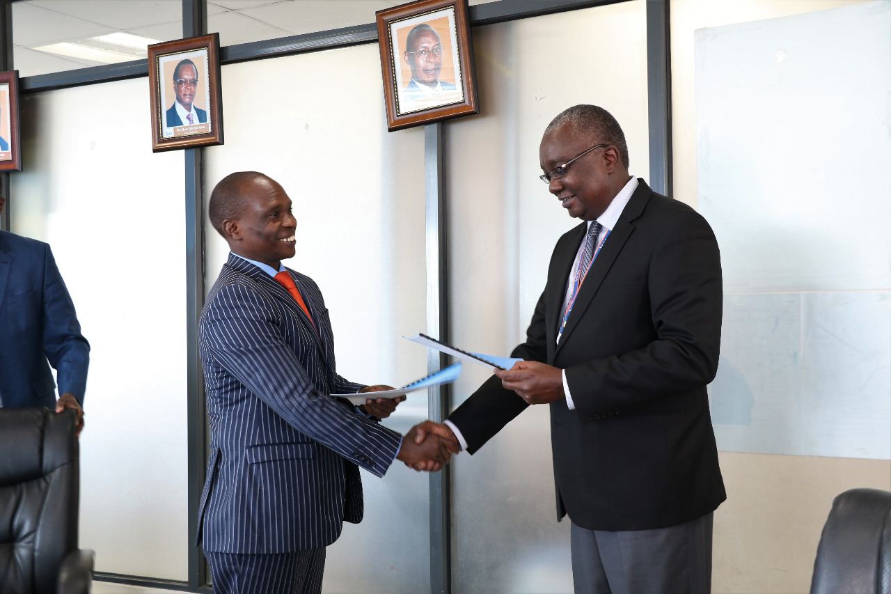 MoU signing between  CAK and the Kenya Civil Aviation Authority (KCAA) – August 2018.