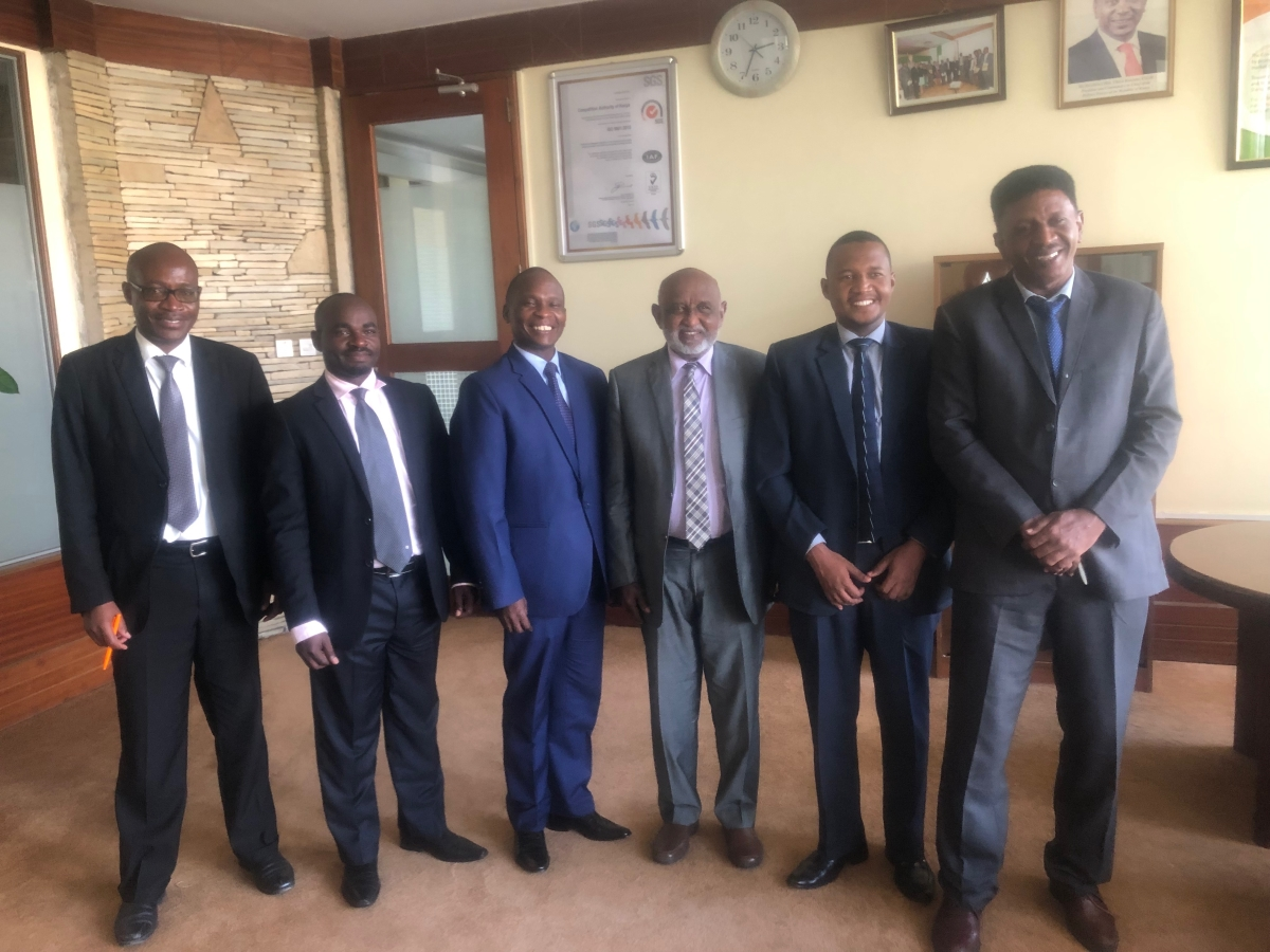 Sudan Competition Council Members at the Authority's Headquarters during a benchmarking tour – November 2018.
